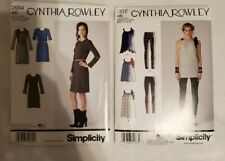 Simplicity Lot of 2 Cynthia Rowley Sewing Patterns Uncut New 2054 1372