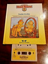 Teddy Ruxpin Double Grubby Vintage Book & Tape / Cassette set 1985 Wow Tested!