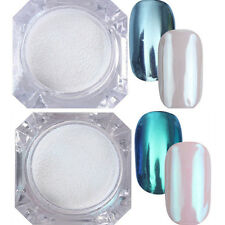 2Boxes BORN PRETTY Nail Mirror Glitter Powder Dust Nail Art Chrome Pigment DIY