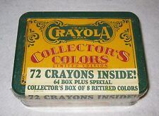 72 Crayola Crayons Collector's Colors Limited Edition Tin Box 1991