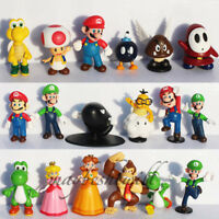 Super Mario Bros Set 11pcs Track Mario Figures 9CM Toy New in Box
