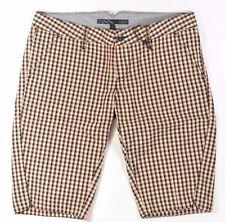 Vans Blurred Donna 100% Cotton Shorts Misura 5 Onice Nero Quadri Nuovo