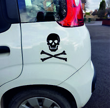 Skull and Cross Bones Vinyl Car Wall Decal Sticker in 12 Colours