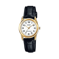 Casio LTP-V001GL-7BUDF Black Leather Watch for Women