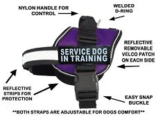 Servcie Dog in Training Nylon Dog Vest Harness. Purchase Comes With 2 Reflective