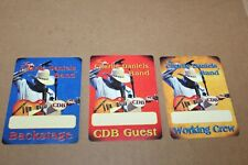 Charlie Daniels Band  -  3 x Backstage Pass unused - Lot # 1   - FREE POSTAGE