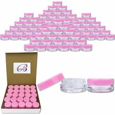 1000 Pieces 3 Gram/3ML Pink Plastic Makeup Cosmetic Sample Jar Containers