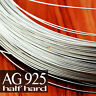 925 SOLID STERLING SILVER ROUND WIRE 0.25 to 2mm ~ HALF HARD ~ JEWELLERY MAKING