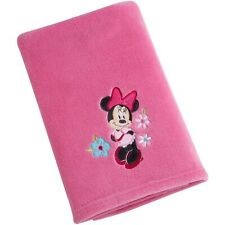 Disney Baby Applique Minnie Mouse Plush Blanket Pink - See details