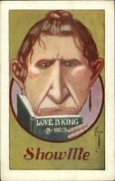 C. Ryan - Homely Woman LOVE IS KING by HECK c1910 Postcard