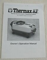THERMAX AF Home Environmental Cleaning System Owners Operation Manual