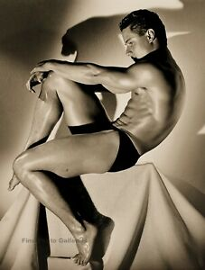 1985 GREG LOUGANIS Male Diver Semi Nude By HERB RITTS Quadtone Photo Art 16x20