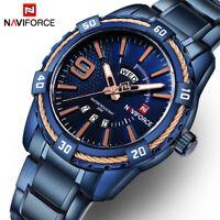 Naviforce 9117 Luxury Stainless Steel Men Sport Waterproof Calendar Quartz Watch