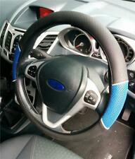 New Steering Wheel Glove Cover Blue-Black Soft Look Effect For Renault