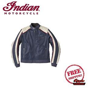 GENUINE INDIAN MOTORCYCLE BRAND MEN'S MESH ARIZONA JACKET BLUE NEW