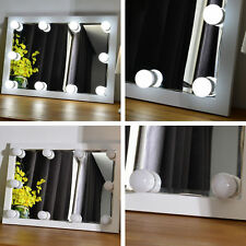 Hollywood Vanity Mirror LED Make Up Lights Dressing Table Organizer Decoration