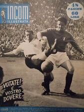 Settimana INCOM n°21 1952 Italia Inghilterra a Firenze 90000 spettatori  [C48]