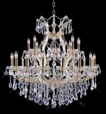 Palace Grand 25 Light Maria Theresa Crystal Chandeliers light Gold 36x36