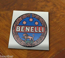 "3 1/8"" Vintage look Benelli Gas Tank Vinyl Decal Sticker"