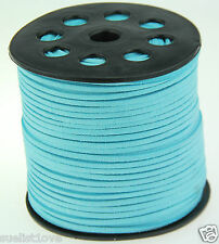 new 10yds 3mm blue Suede Leather String Jewelry Making Thread Cords hot