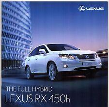 Lexus RX 450h Hybrid 2010-11 UK Market Sales Brochure SE SE-I SE-L Premier