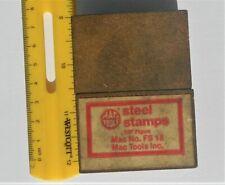 Mac Tools 9pc Steel Stamps 1/8 Figures FS18
