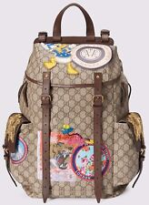 Gucci Beige GG Supreme Disney Donald Duck Backpack 460029-K5I7T-8854 NEO