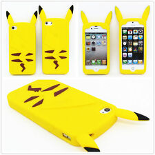 for iPhone SE / 5S / 6 6S+ 6S Plus Soft Silicone Rubber Skin Case Yellow Pikachu