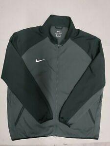 Nike Men's 2XL Dri-Fit Team Woven Full Zip Training Jacket Black Charcoal Gray
