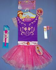 DISNEY SOFIA THE FIRST DRESS-UP-BALLET TU-TU-LEOTARD-4-6X-DANCE RIBBON;GIFTS-LOT