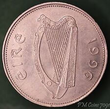 1996 Irish punt £1 one pound EIRE nice coin with stag *[7091]