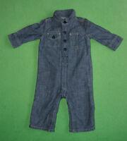 Gap blue denim babygrow baby suit romper all in one for boy 3-6 months 60 cm