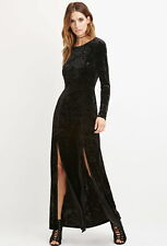 Forever 21 Contemporary Crushed Velvet Maxi Dress XS/S New w/ tags Goth Alt