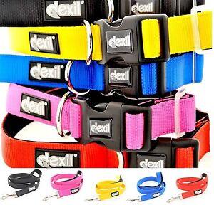 LIFETIME GUARANTEE Dexil Elite Range Dog Collar leash Sets Padded Waterproof New