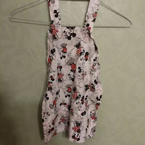 Children's Toddler Apron Mickey & Minnie Mouse Homemade Dress up Pretend S