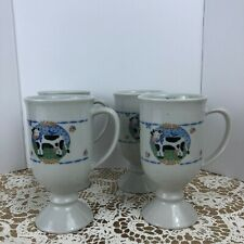 Set Of 4  OTAGIRI Clarabelle Cow Coffee Mug Cup Elizabeth Brownd Design Japan