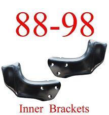 88 98 Chevy GMC 2Pc INNER Front Bumper Brackets, L&R Set, Fits Gas & Diesel!