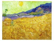 Postcard Vincent Van Gogh Wheat Fields  with Reaper at Sunrise Unused MINT