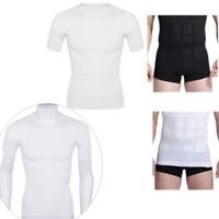 Men's Slim Shirt Body Shaper Belly Girdle Compression Top Tee Corset Shapewear