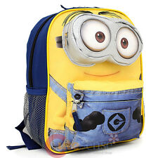 "Despicable Me Minion Face School Backpack 3D 12"" Book Small Bag - 3D eye Pocket"