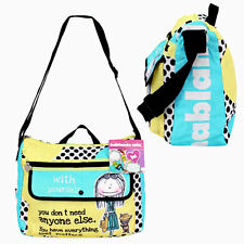 Hablando Sola Polka Dot Messenger Style Tote Purse Bag Shoulder School Sport Bag