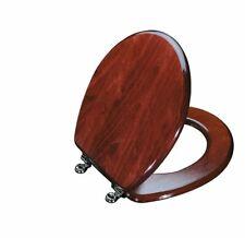 KOHLER K-4756-CP-WD Vintage ROUND toilet seat, CHROME Hinges, MAHOGANY