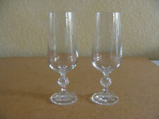 Import Associates Czech Bohemia, Claudia Pattern, 2 Champagne Flutes