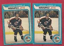 2 X 1979-80 OPC # 396 JETS NHL ENTRY LARS-ERIK SJOBERG CARD