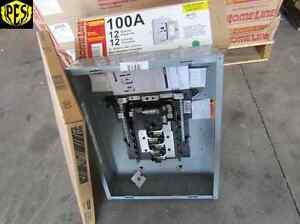 NEW SQUARE D HOM12M100C 100 AMP 12 CKT MAIN BREAKER INDOOR PANEL W/ COVER