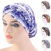 New Women Muslim Braid Head Turban Wrap Cover Cancer Chemo Cap Hat Hijab Bonnet