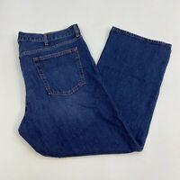 Old Navy Denim Jeans Mens 42X30 Blue Boot Cut Leg Regular Fit Cotton Medium Wash