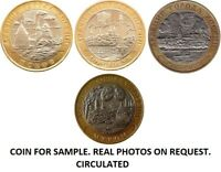 HIGH GRADE  2003  4 BI-METALLIC RUSSIAN COINS 10 RUBLES ANCIENT CITIES OF RUSSIA