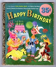 """HAPPY BIRTHDAY ~ 1st """"A"""" ed. Little Golden Book #123 ~ UNCUT & UNMARKED!"""