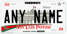 San Luis Potosi Mexico Any Name Number Novelty Auto Car License Plate C02